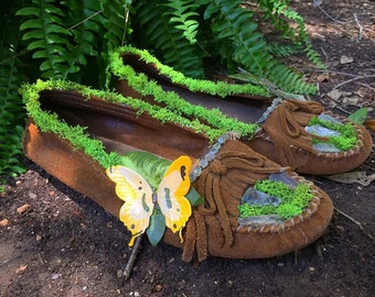 Mossy Crystal Moccasins