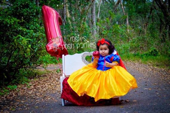 Snow White Dress For Birthday Costume Or Photo Shoot Snow