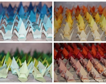 100 Origami Cranes - Japanese Paper - Size S