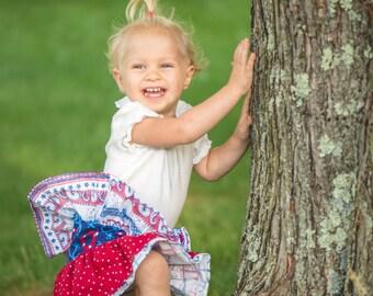 Baby Girl Skirt - Ruffle Skirt - Ruffle Diaper Cover - Frilly Nappy Covers - Toddler  Bloomers - Red Skirt - Nautical Skirt - Blue Skirt