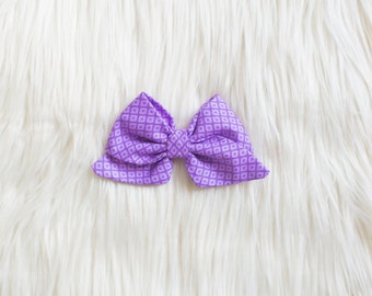 Purple LITTLE Darling Bow - Purple Baby Bow - Baby bow - Hair Clip - Baby Head wraps - Baby Head wrap - Big Baby Bow - Large Bow