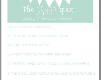 The Grooms Quiz