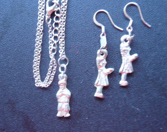 Mexican 'Milagro' Charm Necklace and Earrings