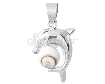Silver Turtle Pendant  With Shiva Eye Shell