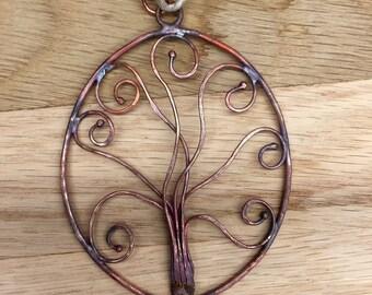 Ornament, Tree of Life, Copper