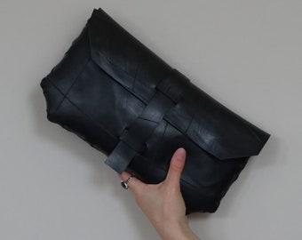 Large Fraser Clutch // Recycled Rubber Evening Bag // Innertube Bag // Vegan Bag