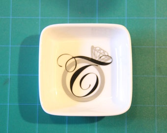 Ring or Jewelry Dish with your Monogram or Initial