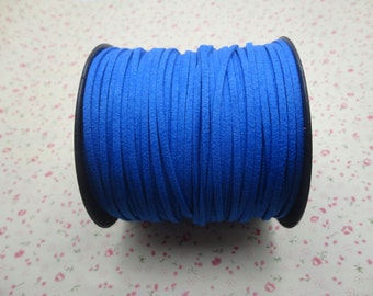 a9b8f4f8cb9b 10 meters 3mm width royal blue suede leather cord