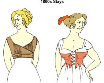 Early 1800s Stays Pattern