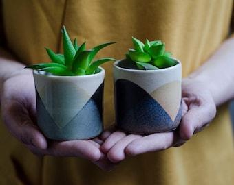Mini Planters, Planter, Succulent Planter, Ceramic Planter, Indoor Planter, Pottery Planter, Garden Gift, Cactus Planter, Modern Planter