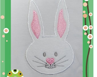 Bunny Face - Applique for the 8x12inch/200x300mm embroidery hoop
