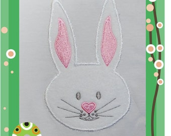 Bunny Face - Applique for the 4 x 4inch/100x100mm embroidery hoop