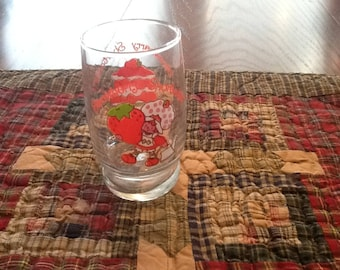 Vintage Strawberry Shortcake Glass Tumbler