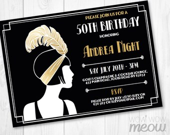 Surprise gatsby invitation art deco 1920s birthday invite gold 1920s invitation gold birthday invite art deco any age gatsby party instant download vintage retro filmwisefo