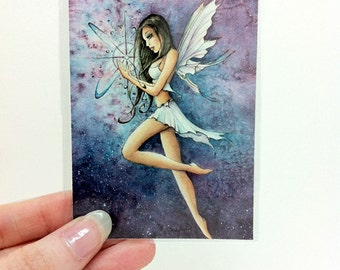 ACEO Fairy Art Card - Enchanted Star Print - Trading Card by Sarah Alden