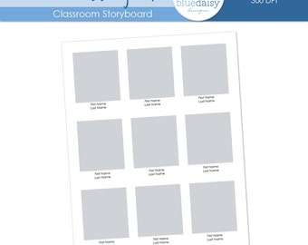 8x10 Classroom Storyboard  (Class Size 9) - Photographer Resources