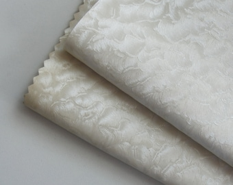 Embossed Pearly White Fake Leather Piece