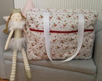 diaper bag liberty cotton strawberries