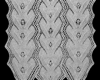Spring Garden Scarf or Stole (PDF pattern)