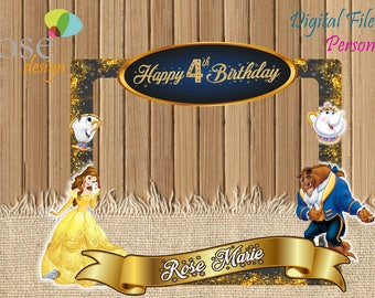 Beauty and the Beast Photo Booth / Birthday / Backdrops / Beauty and the Beast Photo Booths / beast Party / Beauty and Beast Selfie Frame