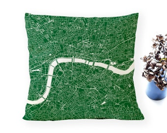 LONDON Map, Throw pillow for your home decor, Map of LONDON Cushion Cover, Custom Wedding Pillow Cover, anniversary gift