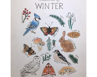 Custom Wildlife/Seasonal Watercolor and Ink Painting