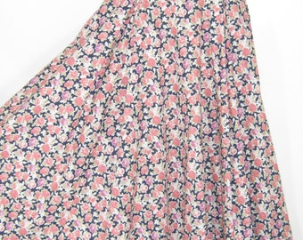 LAURA ASHLEY Vintage Country Roses High Waist Cotton Lawn Summer Skirt, UK8/10