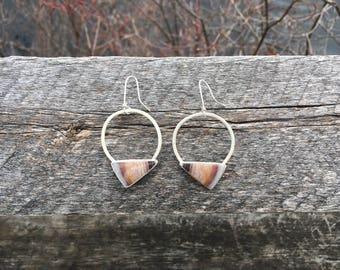 Serape Jasper Hoop Dangle Earrings