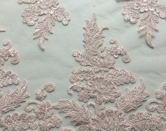 HotPink Embroidered  Lace 2744color,French Lace,Chantilly lace for wedding,dance,high fashions hand made