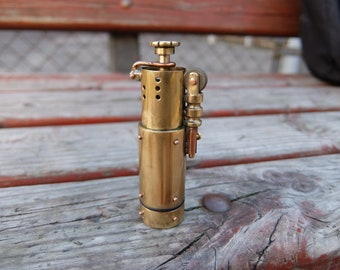 Gasoline lighter in steampunk style. Fully sealed. Completely handmade.