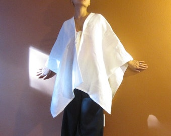 linen origami wrap made to order pick your color plus size fit / linen wrap / linen shawl / funky fashion / lagenlook