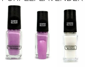 Two if by Scent Collection Purple/Lavender Scented Nail Polish