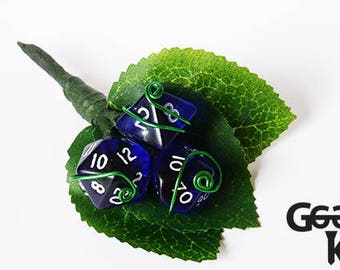 Dice Buttonhole Custom Made, Alternative Buttonhole, Alternative wedding, dungeons and dragons, Custom Buttonhole