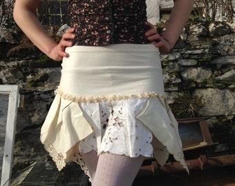 Made To Order Pixie Skirt Organic Cotton, Vintage Lace Skirt, So Come With Me, Where Dreams Are Born, And Time Is Never Planned.