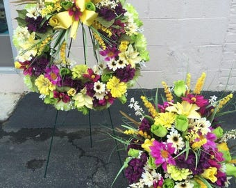 Cemetary Wreath and/or Vase