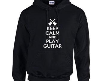 Keep Calm And Play Guitar Mens Hoodie  Funny Humor
