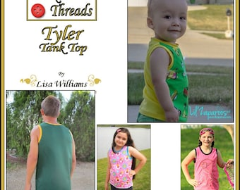 INSTANT DOWNLOAD: Tyler Tank Top - DiY Tutorial PdF eBook Pattern - Sizes 12M to 16