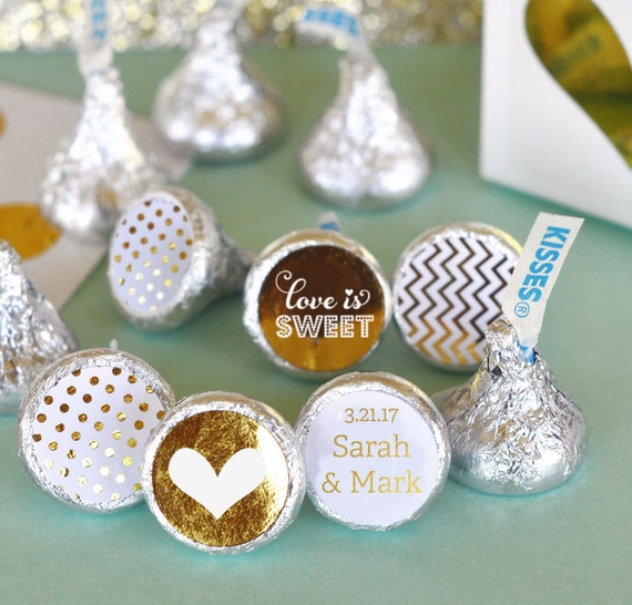 Chocolate Kisses Hershey® Kiss Stickers Personalized