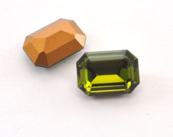 Olivine Swarovski 4610 14x10mm Octagon Crystal Rhinestone