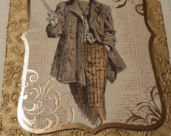Stylish gentleman's greeting card