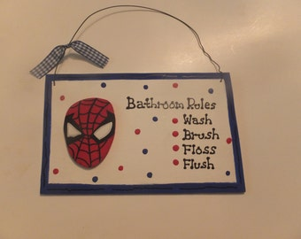 Spiderman Bathroom Wall Hanging