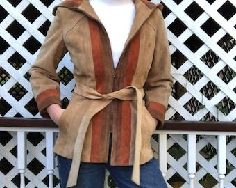 70's Tri-color Suede Jacket