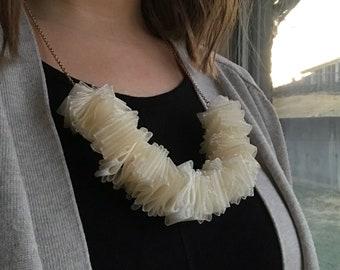 Cream Statement Necklace