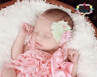 Newborn Lace Romper/Babygirl Petti Romper/Pink Romper/Newborn Romper/Newborn Photography Props/Baby Romper/Baby Ruffle Romper/Newborn Outfit