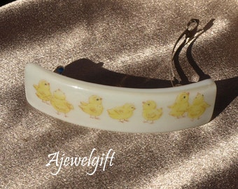 Band of Chicks Fused Glass Barrette 113066