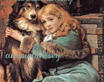 """Child's Room Art, Dog Art Print, Off to College, """"Goodbye Old Friend""""  #8"""