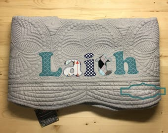 Personalized baby gifts etsy personalized baby quilt personalized baby gift monogrammed quilt baby shower gift baby negle Image collections