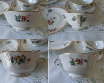 Tea service Limoges France/Tea Cups & saucers/Vintage Limoges