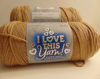 Toasted Almond  - I Love This Yarn worsted weight 100% acrylic - 3012