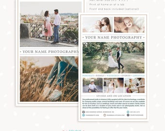 Photography brochure template, pamphlet, photography flyer, one page flyer, one page brochure, half letter, photography marketing page